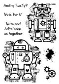 Woodware - Rusty Robots - Clear Magic Single Stamp - FRS686